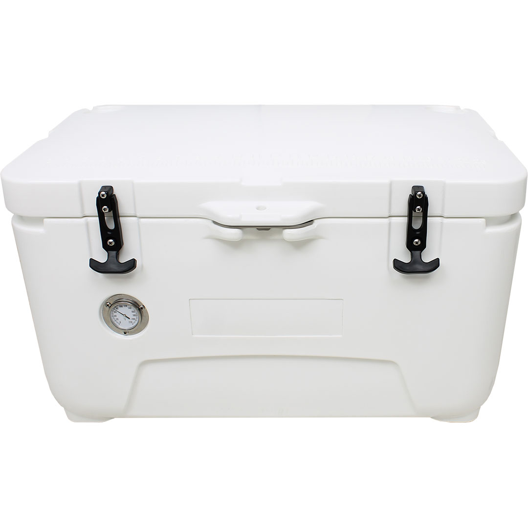 Rhino 50 Litre Ice Box - Thermostat On Front And Lid Latch Can Be Padlocked If Needed, Rubber Feet Raised To Assist Air Flow And Cold Retention