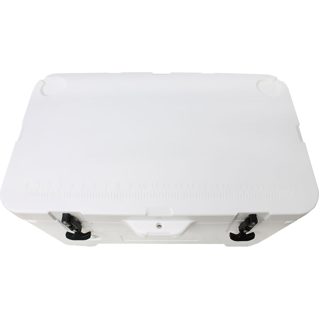Rhino 50 Litre Ice Box - Top Has Cup Holders And Measurement Scale Embossed