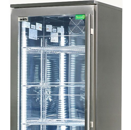 Rhino Stainless Steel Glass Door Upright Commercial Bar Fridge With