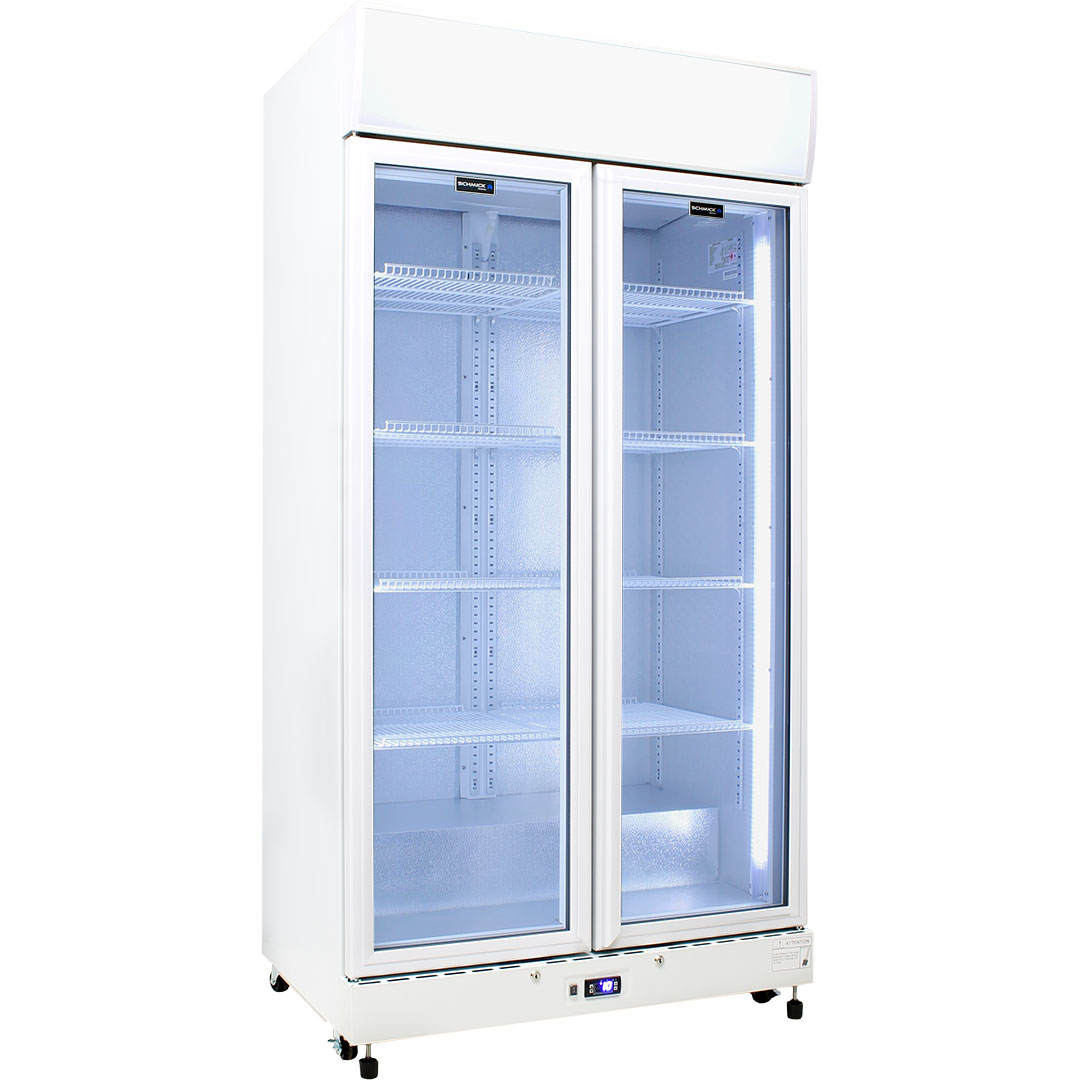 Schmick Commercial Upright 2 Glass Door Bar Fridge