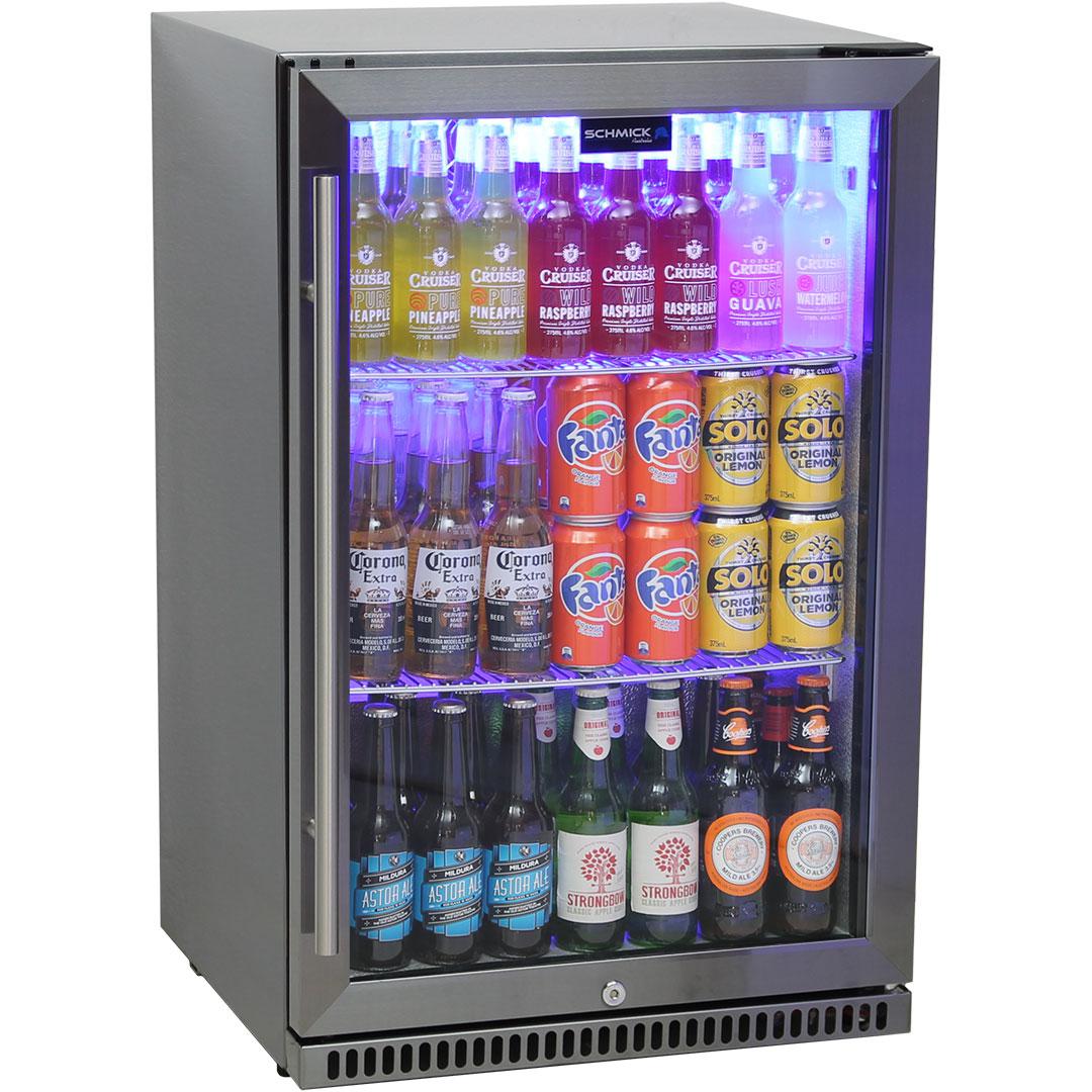 Schmick Black Stainless Steel Outdoor Refrigerator - The Special Coating Prevents Fingerprints