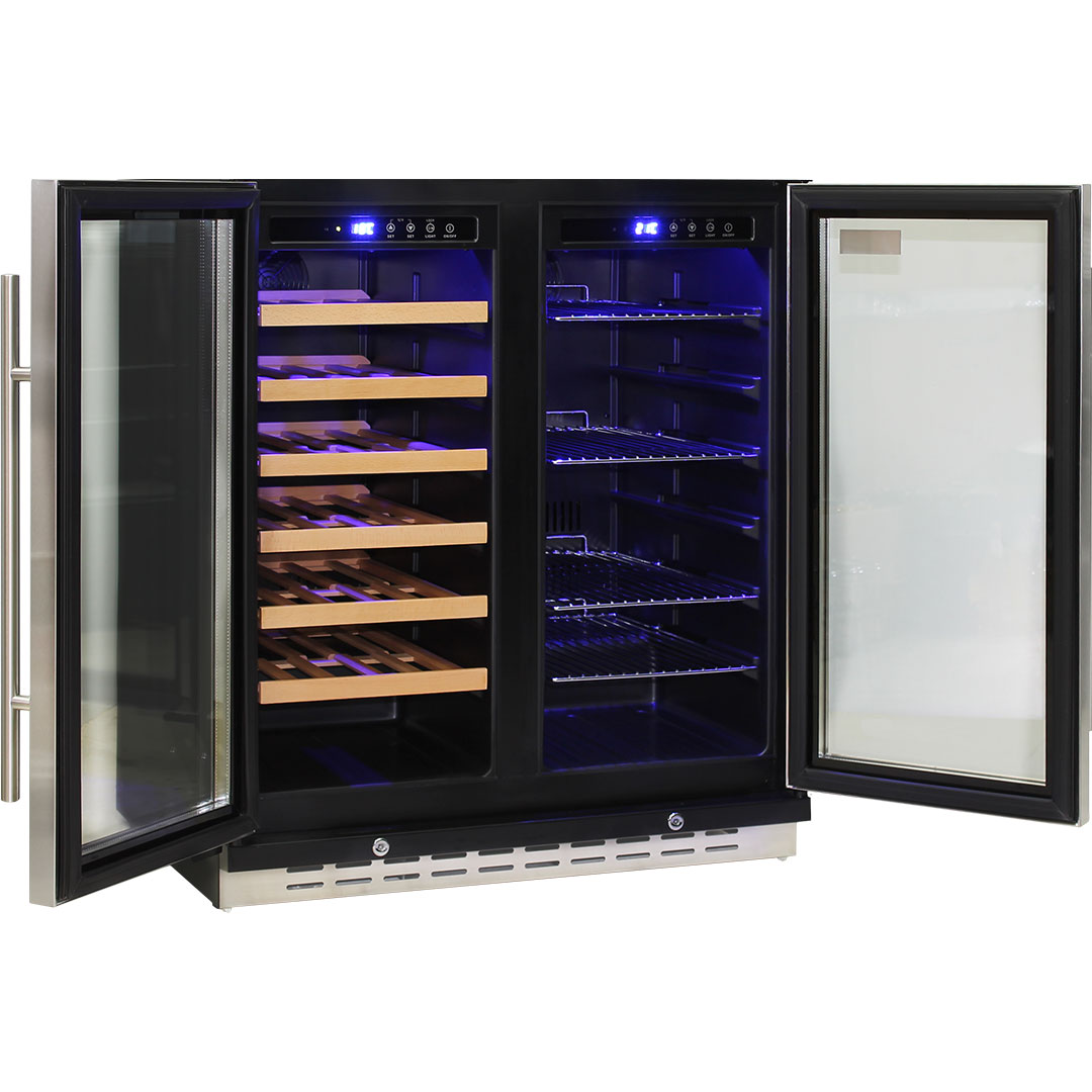 Schmick Dual Zone Under Bench Beer And Wine Fridge - Front Venting So Can Build In Under Bench, Only Needs 10-15mm Each Side