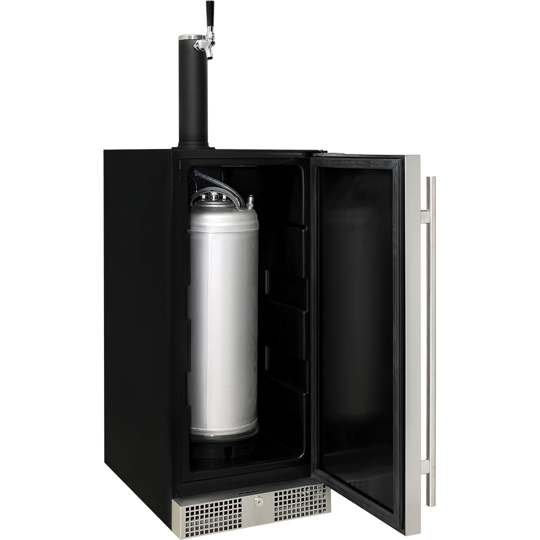 Interior Designed To Fit Corny Keg And Also CO2 Cylinder Saving Space