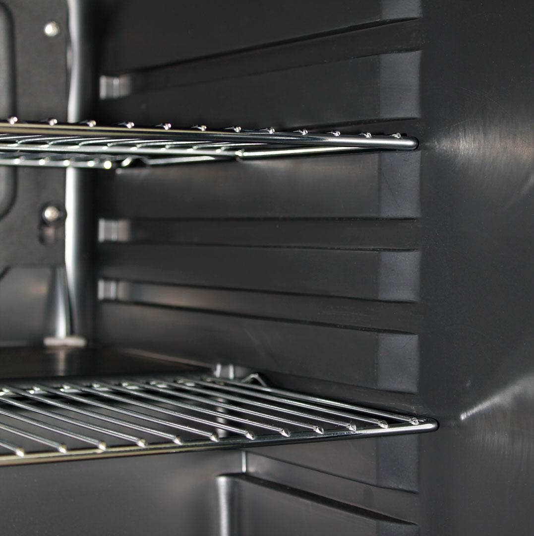 Retro Mini Bar Fridge - Chromed Shelves