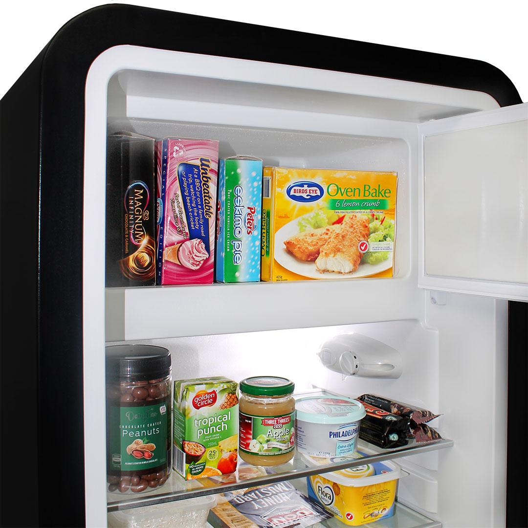 Retro Black Bar Fridge - Nice Freezer Size