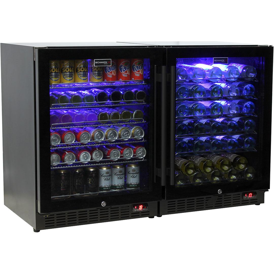 Schmick Beer And Wine Matching Indoor Quiet Running Fridge Combination Model SK151G-Combo