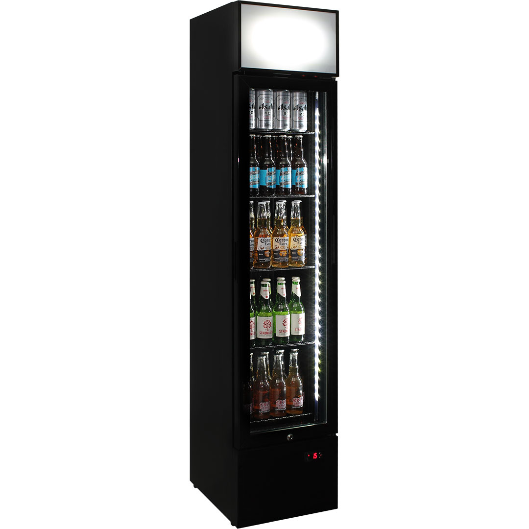 Schmick 1 Door Skinny Bar Fridge - Ask About Branding The Light Box No Charge