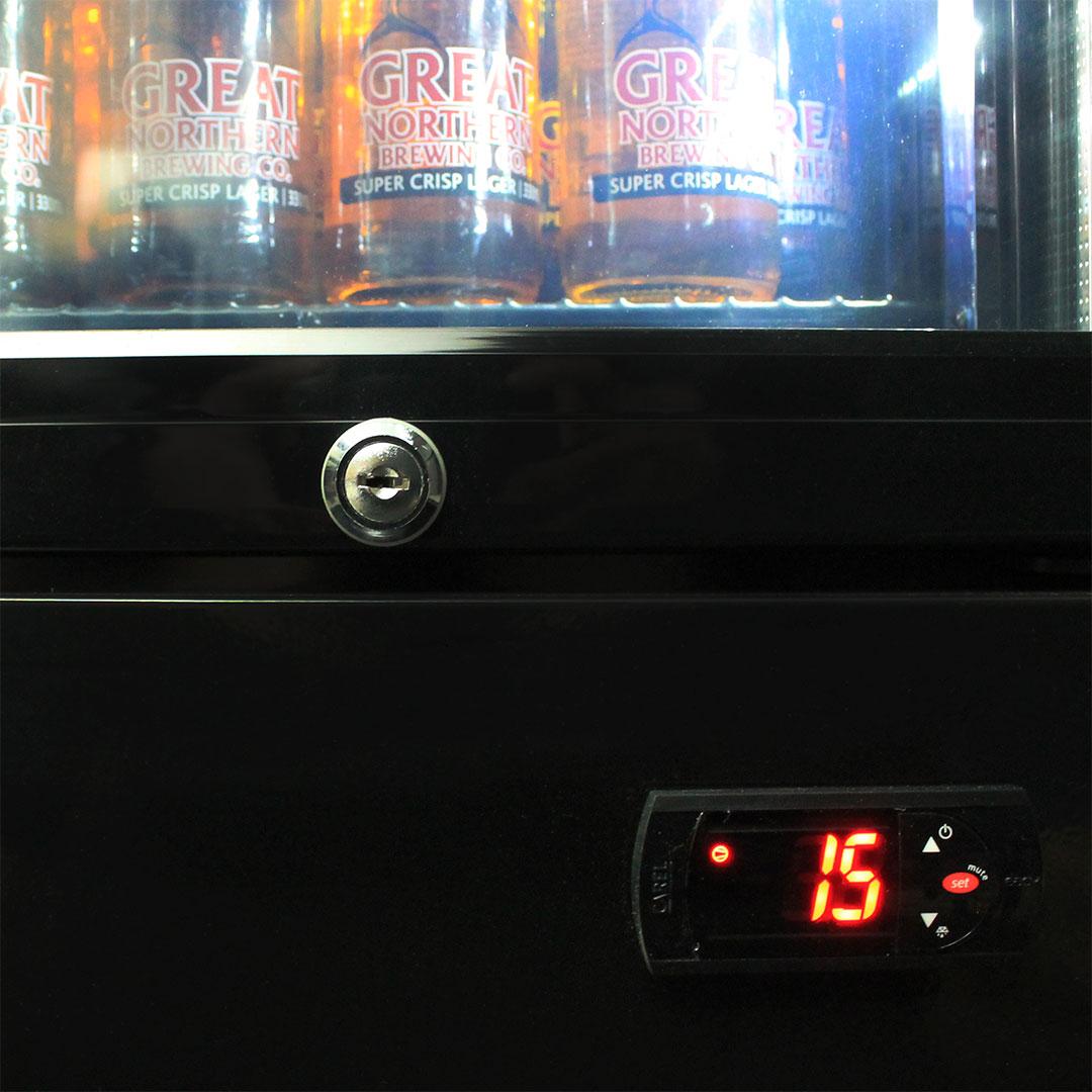 Schmick 1 Door Skinny Bar Fridge - Italian Carel Electronic Controller And Lock
