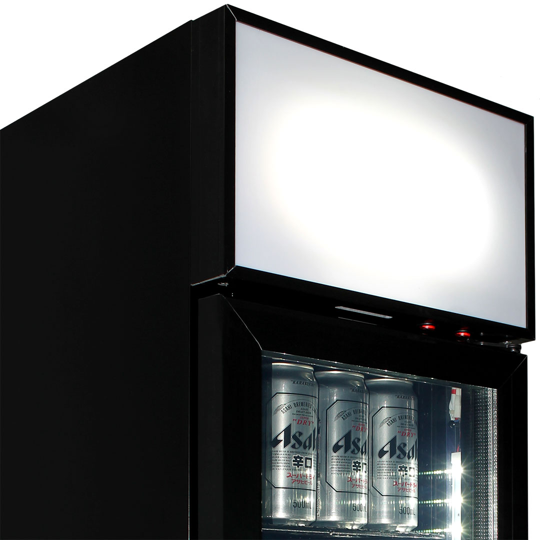 "Schmick 1 Door Skinny Bar Fridge - Why Not Brand The LightBox, It's Free! Simply Add In Comments ""Free LIGHTBOX BRANDING CORY"""