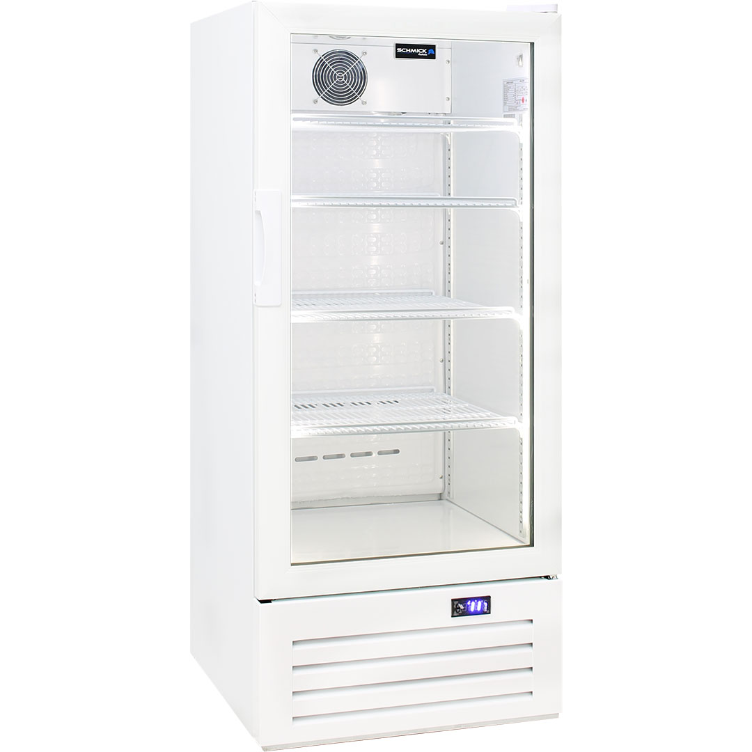Schmick 1 Glass Door Commercial Bar Fridge - Strong Commercial Shelving (Comes with 4)