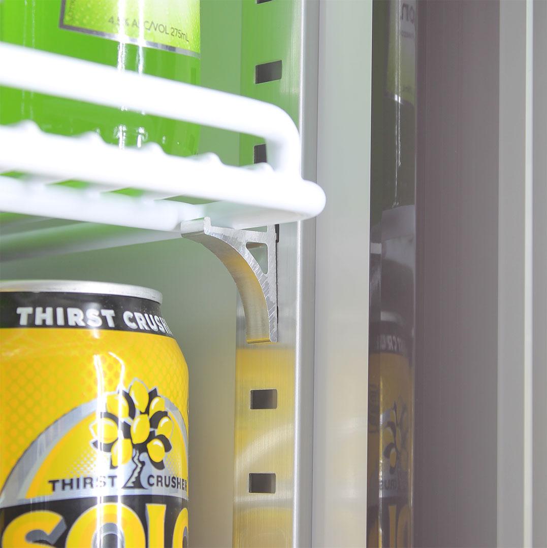 Schmick 1 Glass Door Commercial Bar Fridge - Adjustable Shelving