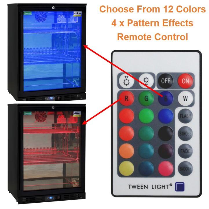 Multi Colored Led Lighting On Rhino Bar Fridge