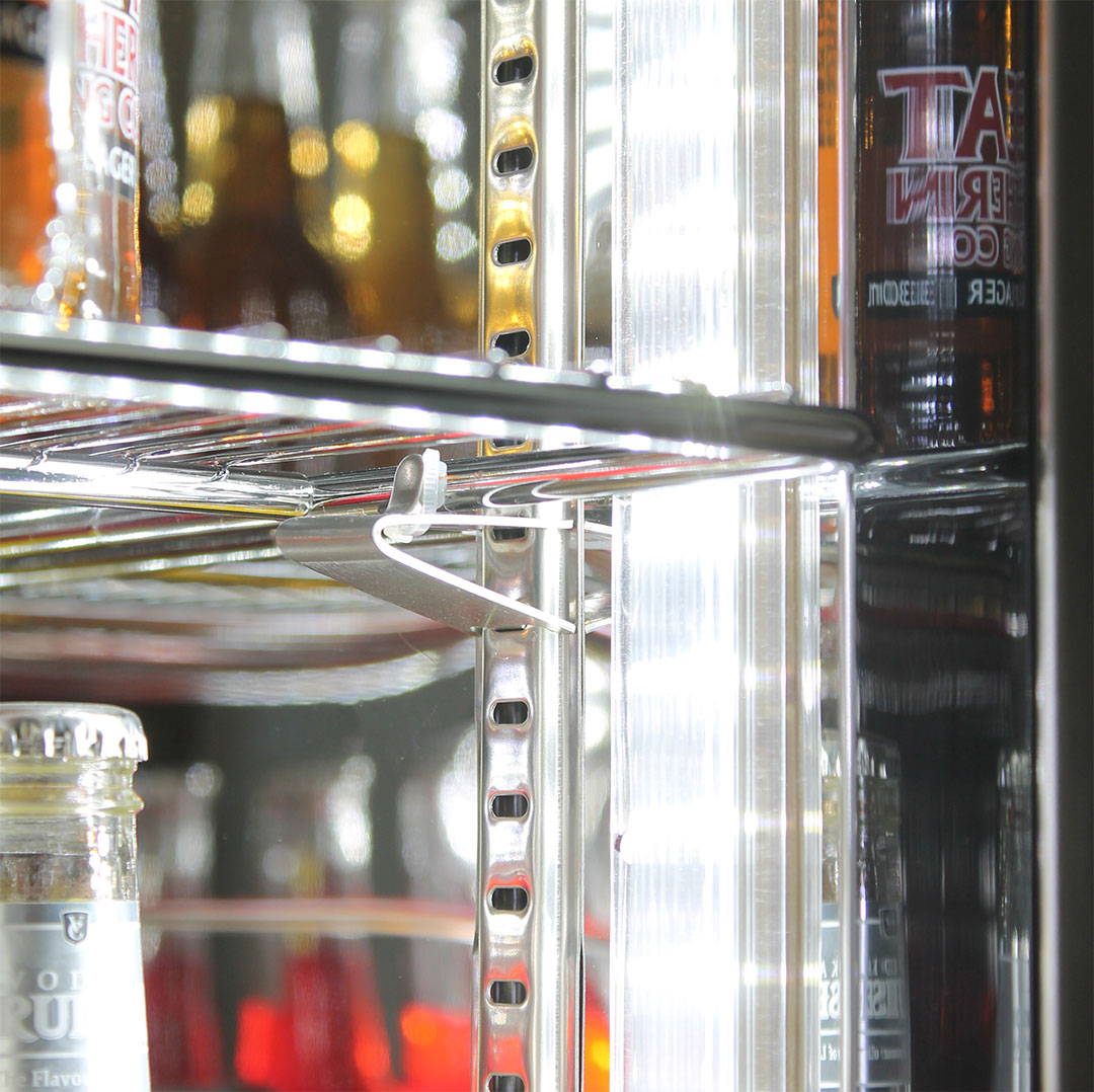 Rhino Glass Door Bar Fridge Adjustable Shelving