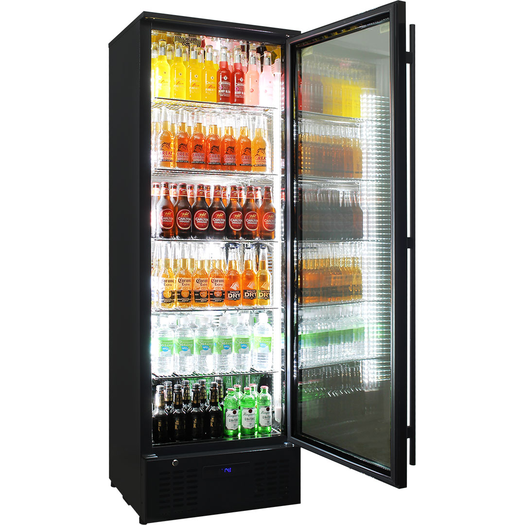 Rhino Upright Low Energy Commercial Bar Fridge SGT1R-B