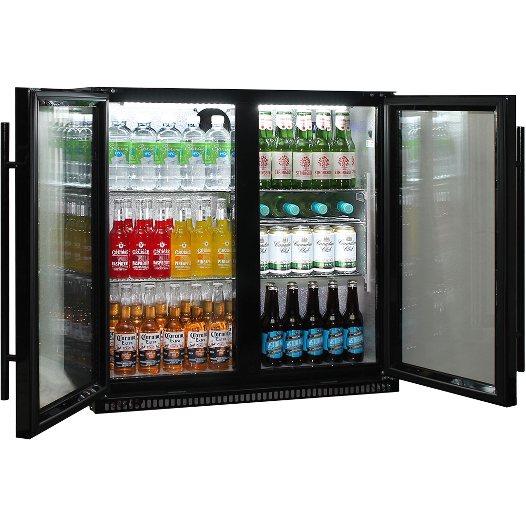 Heated Glass Alfresco Bar Fridge Schmick SK190-B