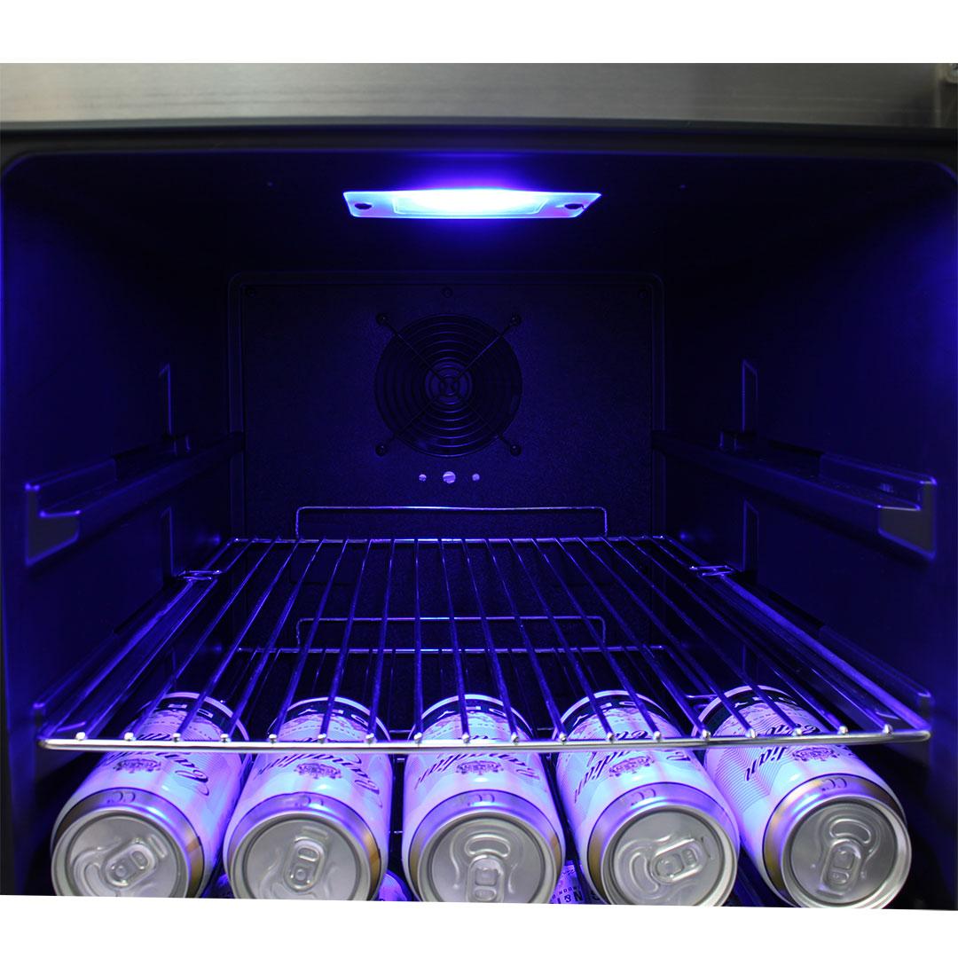 Schmick Dual Zone Alfresco Beer And Wine Bar Fridge JC190-GG Led light