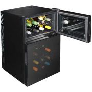 Mini Dual Zone Wine Refrigerator 24 Bottle Model BCW69 Top Open