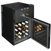 Mini Dual Zone Wine Refrigerator 24 Bottle Model BCW69 Bottom Open