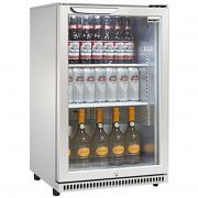 Husky 1 Door Silver Glass Door Bar Fridge Model SG1HR-S