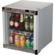 Husky Tropical Glass Door mini Bar Fridge Model HUS-SC50W Angle