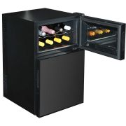 Mini Beer And Wine Fridge Model BCWH69 open