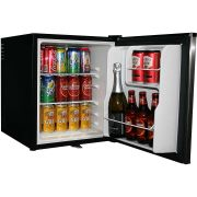 Mini Bar Fridge Stainless Door Model BCH48-SS open angle