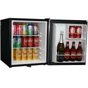Mini Bar Fridge Stainless Door Model BCH48-SS open front