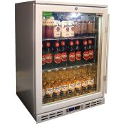 Rhino 1 Door Silver Glass Door Bar Fridge Model SG1HL-S