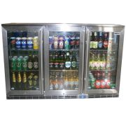 Rhino 3 Door Alfresco Outdoor Glass Door Bar Fridge Model GSP3H-SS wide