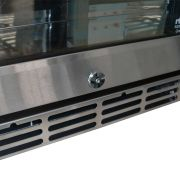 Rhino 3 Door Alfresco Outdoor Glass Door Bar Fridge Model GSP3H-SS lock and grill
