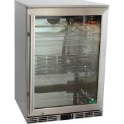 Rhino 1 Door Alfresco Outdoor Glass Door Bar Fridge Model GSP1H-840-SS front