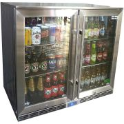 Rhino 2 Door Alfresco Outdoor Glass Door Bar Fridge  Model GSP2H-840-SS front