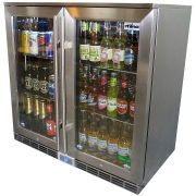 Rhino 2 Door Alfresco Outdoor Glass Door Bar Fridge  Model GSP2H-840-SS shelving