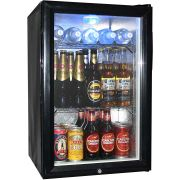 Glass Door Black Bar Fridge Model EC68