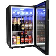 Glass Door Black Bar Fridge Model EC68 open