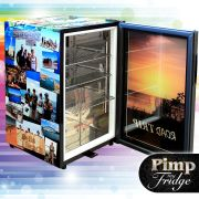 Glass Door Black Bar Fridge Model EC68 Pimped