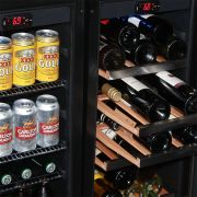 Wine and Beer Glass Door Under Bench Fridges Matching Support