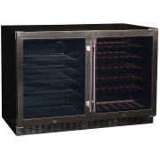 Schmick Beer And Wine Matching Indoor Quiet Running Fridge Combination Model YC150-Combo Angle