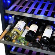 Dual Zone Glass Door Wine Fridge Model CTW54W-SS shelf