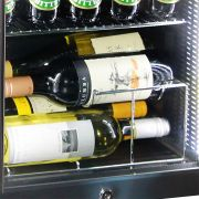 Mini Glass Door 50Litre Bar Fridge Triple Glazed Wine Rack Option