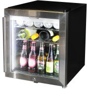 Mini Glass Door 50Litre Bar Fridge Triple Glazed Angle