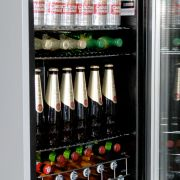 Husky CN130-Silver Glass Door Bar Fridge Interior