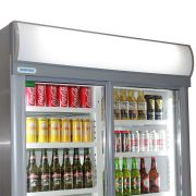 Staycold Sliding 2 Glass Door Commercial Upright Bar Fridge SD1140S Light