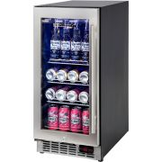 Glass Door Bar Fridge Quiet Operation Front Venting With LOW E Glass