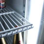 Sliding 2 Glass Door Commercial Upright Bar Fridge Shelves