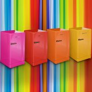 Retro PinkMini Bar Fridge Inside