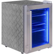Checkerplate Stickered Stainless Steel Mini Bar Fridge