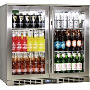 Rhino 2 Door Triple Glass Door Bar Fridge Model SG2H-SS