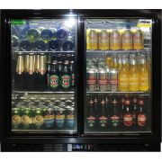 Rhino 2 Sliding Glass Door Bar Fridge Model SG2S-B wine2