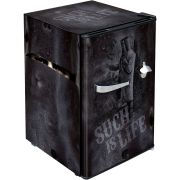 Ned Kelly Retro Black Bar Fridge BC70